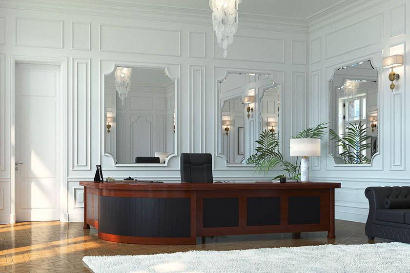 Die Büromöbelkollektion Prestige ist ein einzigartiges Angebot für alle, die klassische, elegant eingerichtete Innenräume schätzen. Diese Möbel sind für Anwaltskanzleien, Vorstandsbüros und öffentliche Einrichtungen bestimmt.
