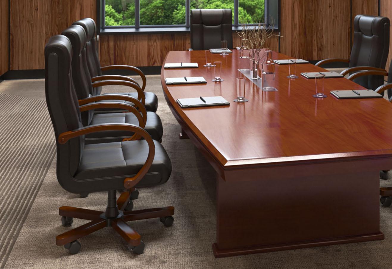 Fotel skórzany do gabinetu Lider