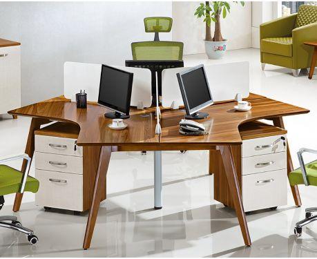 Nowoczesne biurko 3-stanowiskowe EVOLUTIO B205