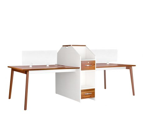 Nowoczesne biurko 4-stanowiskowe EVOLUTIO B305-4