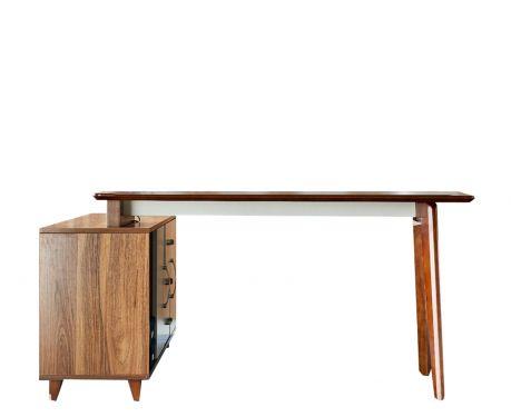 Nowoczesne biurko z pomocnikiem EVOLUTIO A609 140 cm
