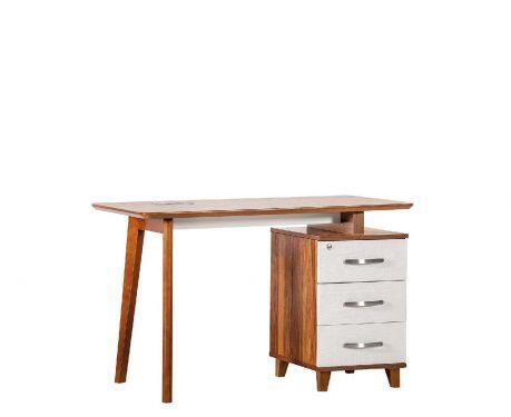 Nowoczesne biurko z kontenerem EVOLUTIO TB-0F 120 cm