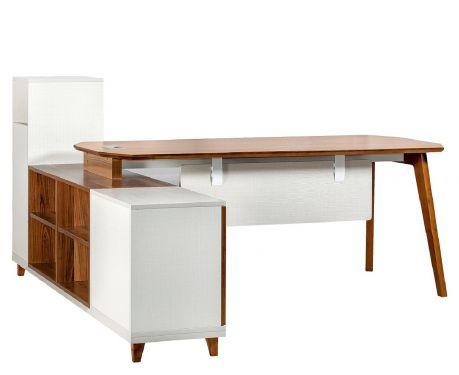 Nowoczesne biurko z pomocnikiem EVOLUTIO A109 180 cm