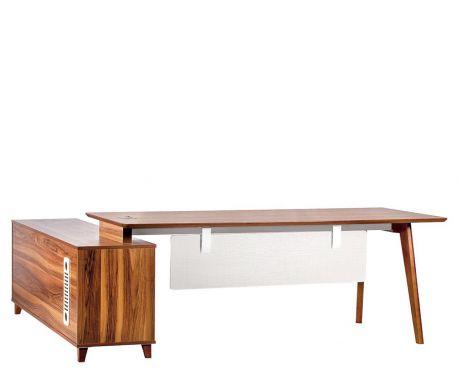 Nowoczesne biurko z pomocnikiem EVOLUTIO A609 180 cm