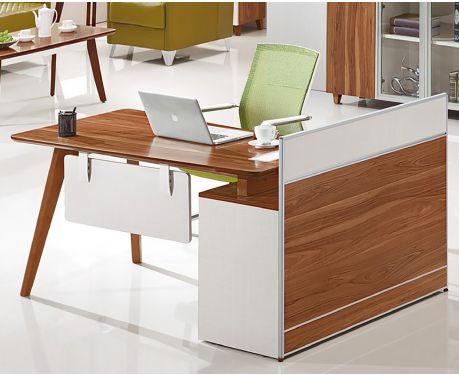 Nowoczesne biurko lewostronne z pomocnikiem EVOLUTIO A909 120 cm