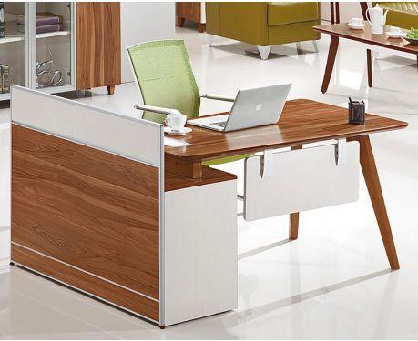 Nowoczesne biurko prawostronne z pomocnikiem EVOLUTIO A909 120 cm