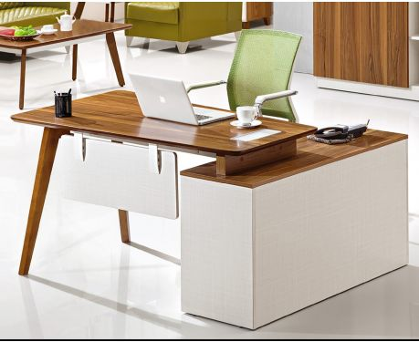 Nowoczesne biurko lewostronne z pomocnikiem EVOLUTIO A909B 120 cm