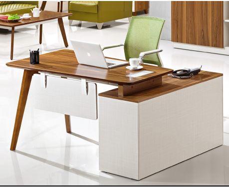 Nowoczesne biurko lewostronne z pomocnikiem EVOLUTIO A909B 140 cm