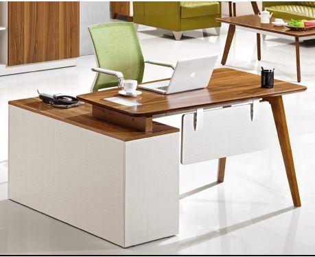 Nowoczesne biurko prawostronne z pomocnikiem EVOLUTIO A909B 140 cm