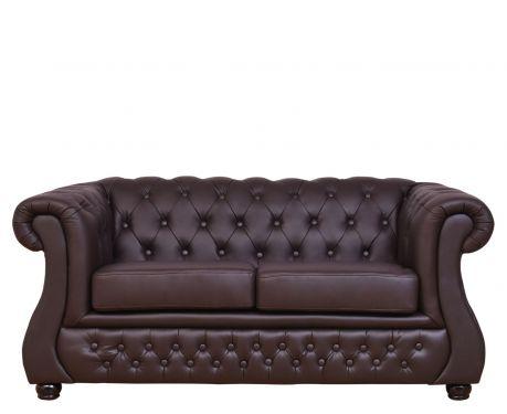 Sofa 2-osobowa CHESTER LUX brązowy