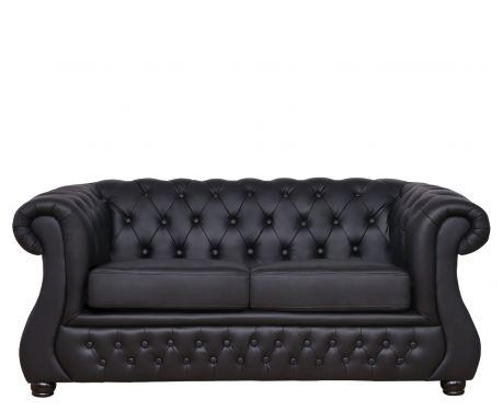 Sofa 2-osobowa CHESTER LUX czarny