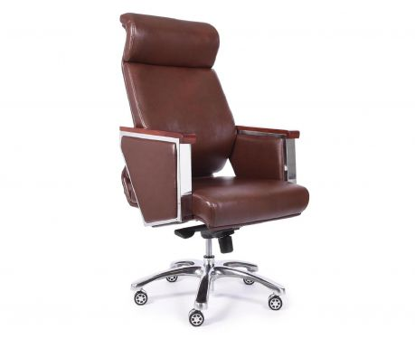 Fotel biurowy ELEGANCE brązowy