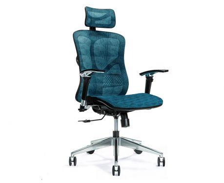 Ergonomiczny fotel biurowy ERGO 500 niebieski