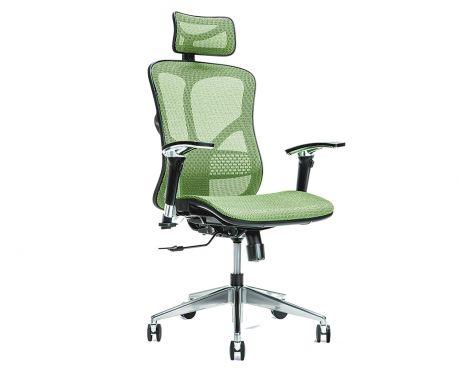 Ergonomiczny fotel biurowy ERGO 500 zielony