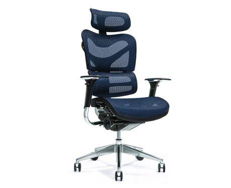 Ergonomiczny fotel biurowy ERGO 700 granatowy