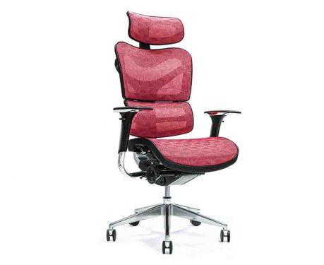 Ergonomiczny fotel biurowy ERGO 700 czerwony