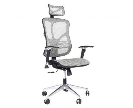 Ergonomiczny fotel biurowy ERGO 500 jasny szary