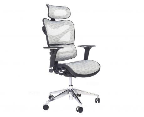 Ergonomiczny fotel biurowy ERGO 600 jasny szary