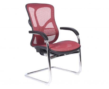 Ergonomiczne krzesło konferencyjne ERGO 650 czerwony