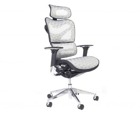 Ergonomiczny fotel biurowy ERGO 700 jasny szary