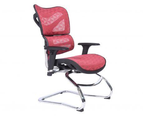 Ergonomiczny fotel biurowy ERGO 750 czerwony