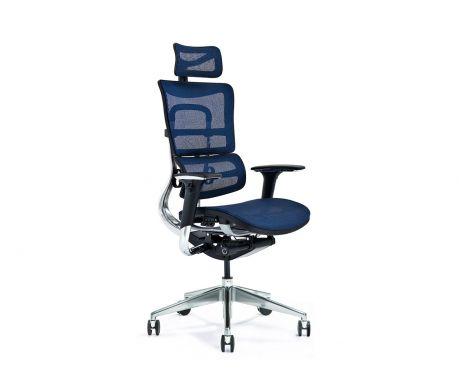 Ergonomiczny fotel biurowy ERGO 800-M granatowy
