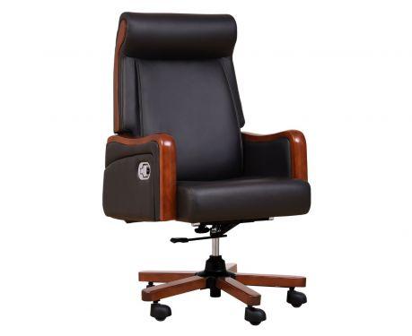 Fotel skórzany BROKER czarny