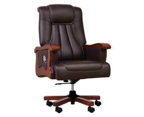 Fotel skórzany PRESTIGE brązowy