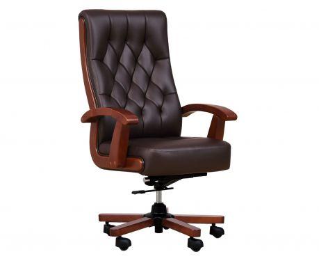 Fotel skórzany CONSUL brązowy