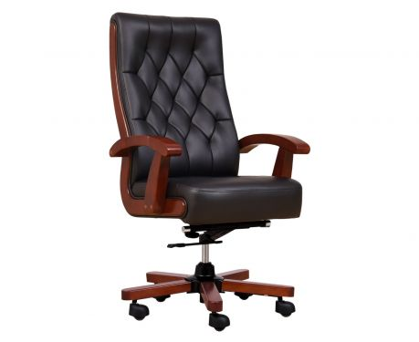 Fotel skórzany CONSUL czarny