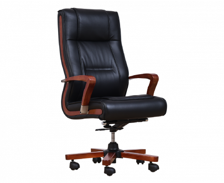Fotel skórzany AMBASSADOR czarny