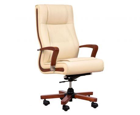 Fotel skórzany AMBASSADOR kremowy