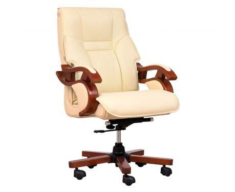 Fotel skórzany MANAGER kremowy
