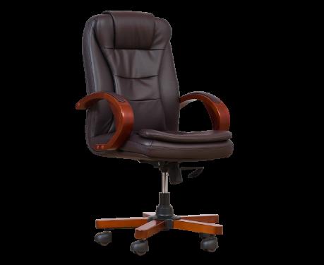 Fotel skórzany ELECTA brązowy