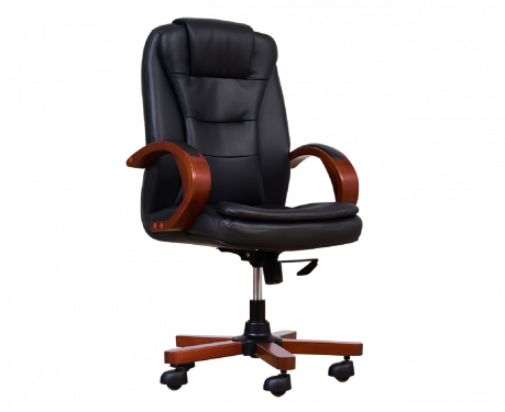 Fotel skórzany ELECTA czarny