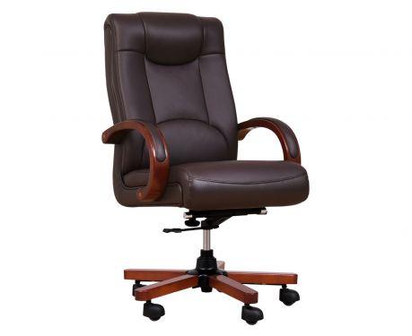 Fotel skórzany LIDER brązowy