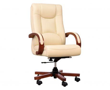 Fotel skórzany LIDER kremowy