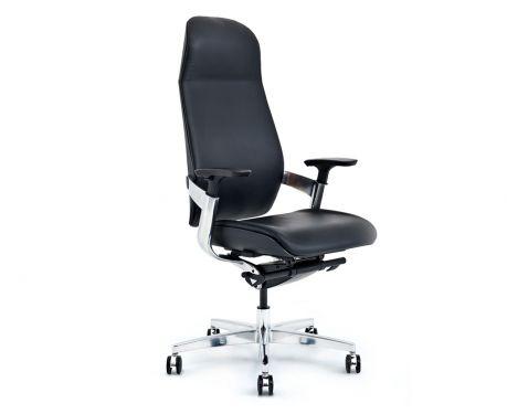 Skórzany fotel biurowy PLATINUM czarny