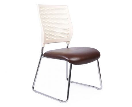 Krzesło konferencyjne TEAM brązowo/biały