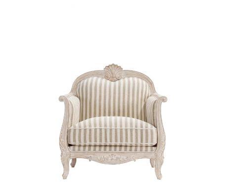 Fotel wypoczynkowy ELODIE I beżowo-biały