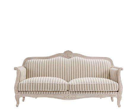 Sofa ELODIE III beżowo-biały