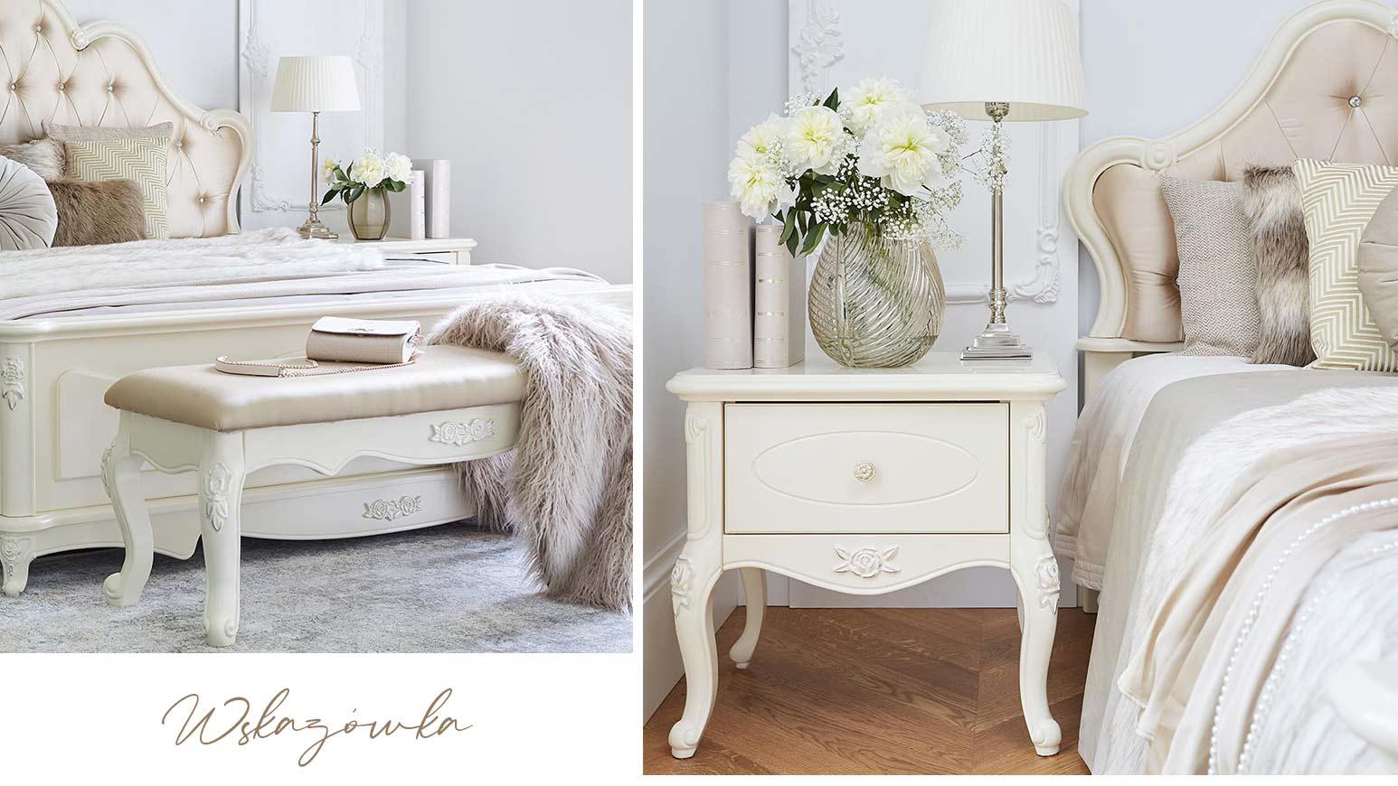 Sypialnia glamour La Perle